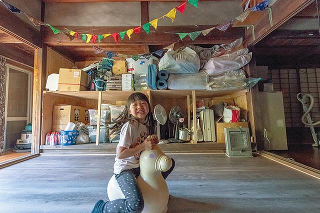 祖父江さんファミリーが暮らす古民家賃貸物件の居室