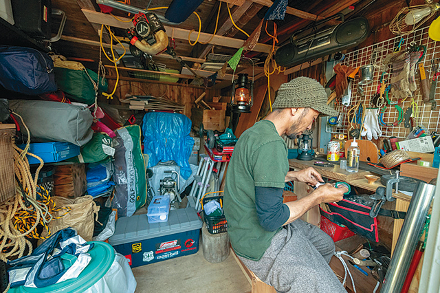 祖父江さんファミリーが暮らす古民家賃貸物件の作業部屋