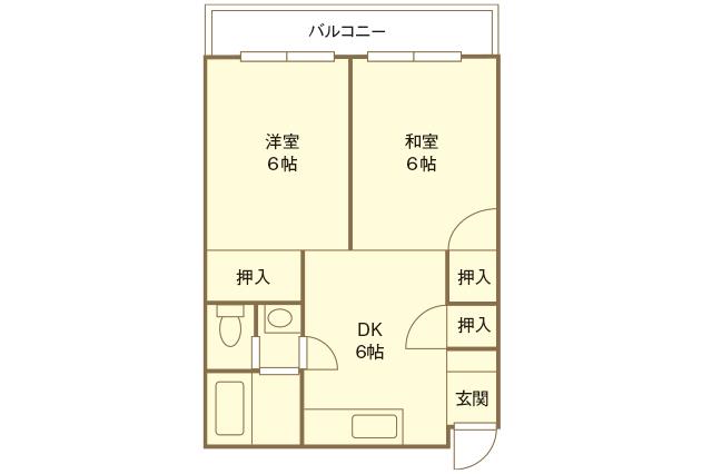2DKは生活リズムが違う・互いのプライベートスペースを確保したいカップルにおすすめ