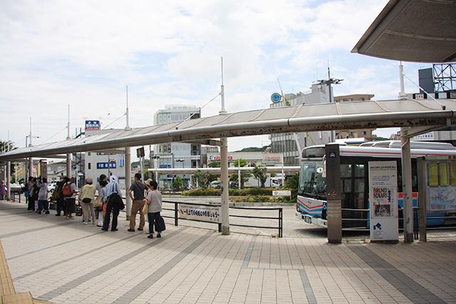 JR逗子駅前のロータリー