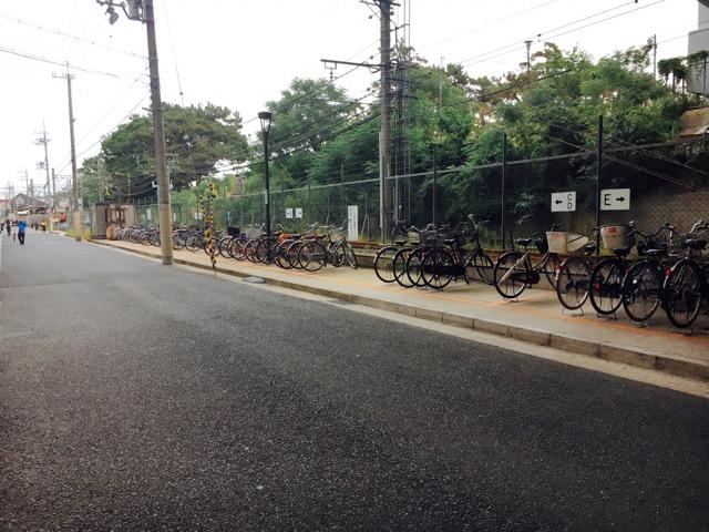 武庫川駅周辺の駐輪スペース