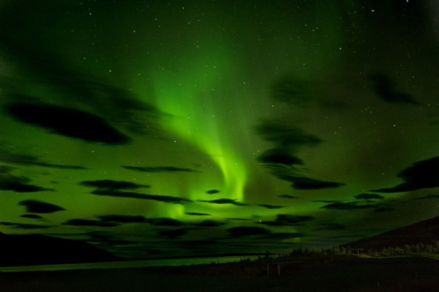 アイスランドではオーロラを見ることもできた!