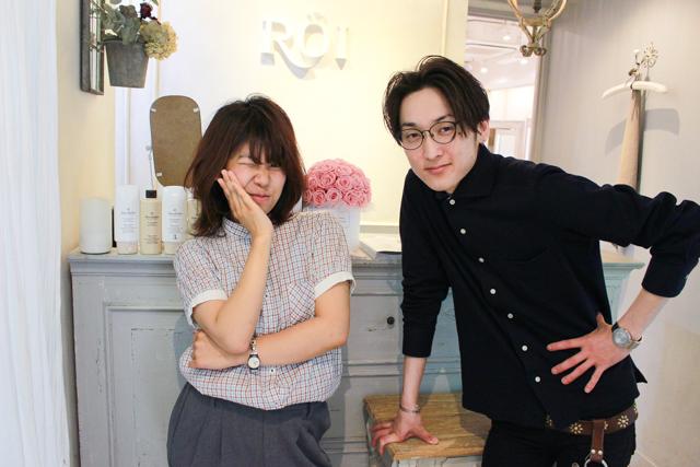 表参道「ROI」のカリスマ美容師・関田さんと木村