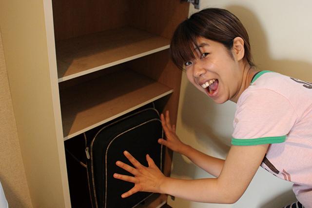 超邪魔だったスーツケースを収納できた!