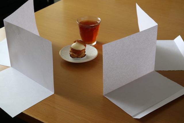 紙を2枚で作った即席の反射板