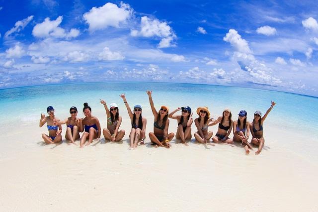 沖縄の海でのマコ旅の写真