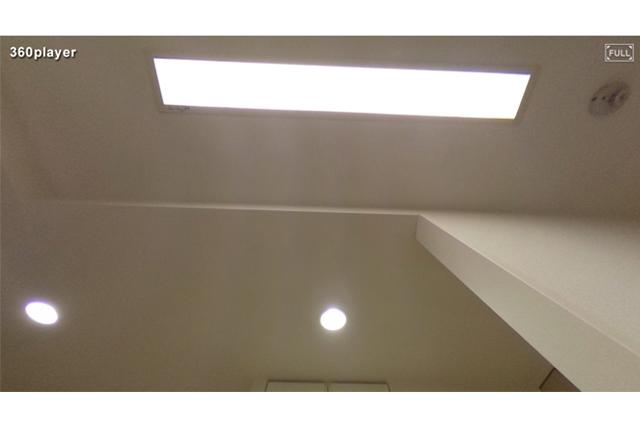 天井も見えるから、照明の位置などもチェック可能!