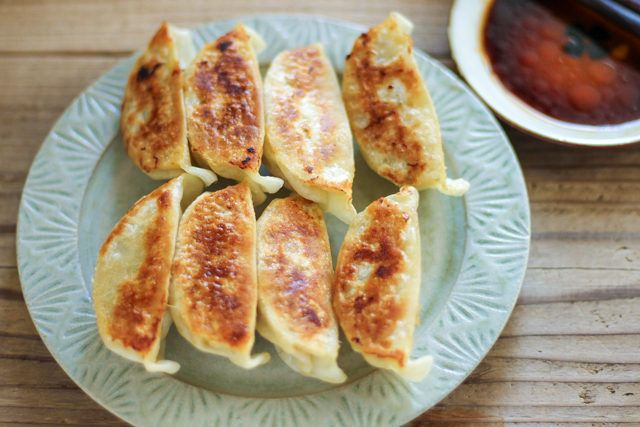 無印良品の冷凍食品「国産黒豚肉入り餃子」調理後