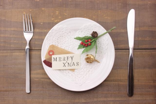 クリスマスのテーブルセット