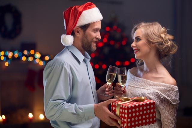 クリスマス幸せそうなカップル