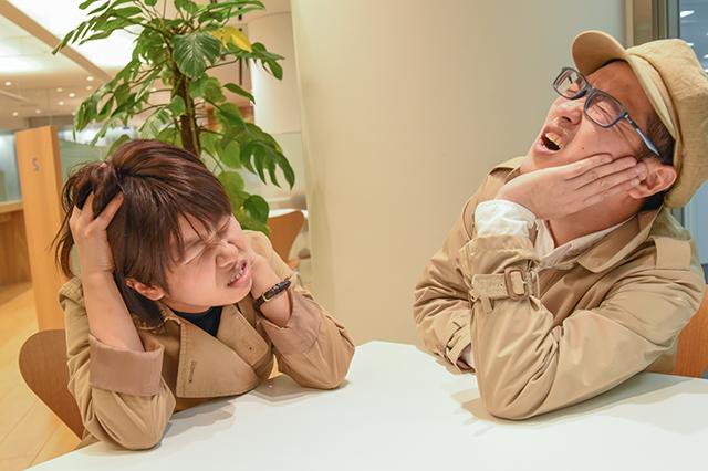 困っている探偵団の二人