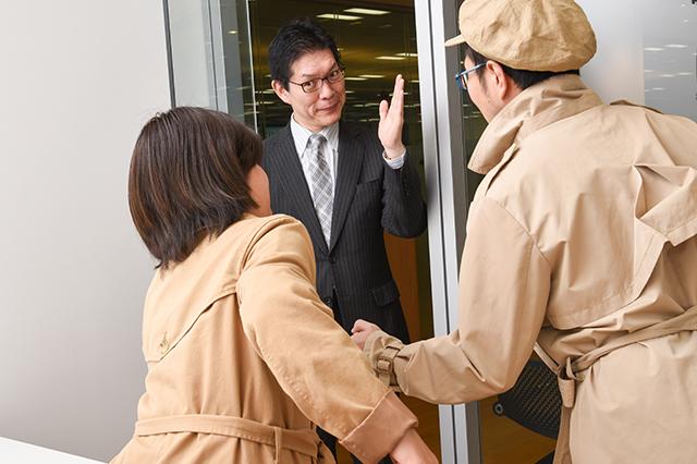 吉田さんに駆け寄る探偵団