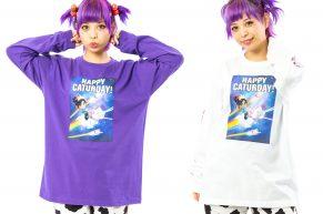 ヴァネロぺのロングTシャツ(紫と白)のデザイン