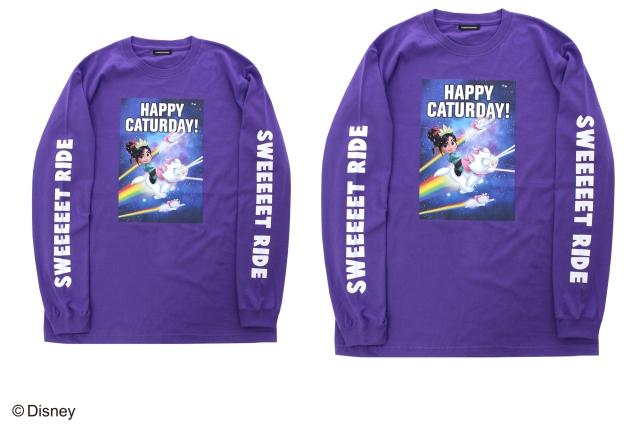 ヴァネロぺの紫のロングTシャツ