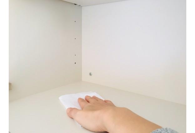 大掃除:空になった収納スペース