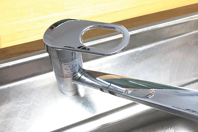 クリーンクロス使用後のキッチン水栓
