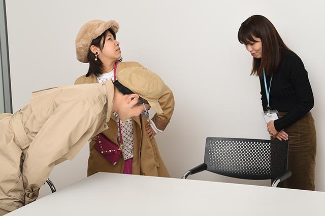 取材終了の挨拶をする探偵団と相馬さん