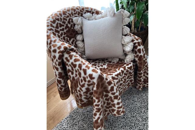 アルパカ素材の毛布