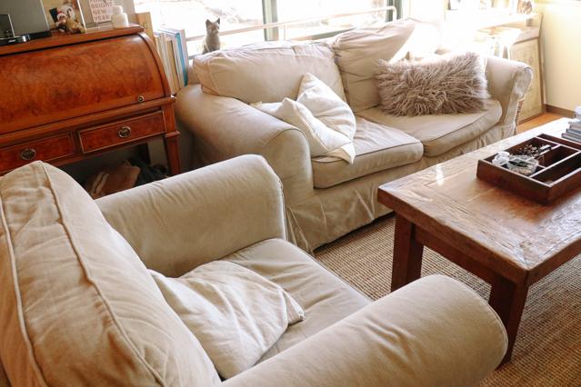 ヘザーさんの家にあるIKEAのソファ