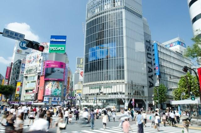 夜でもにぎやかな渋谷