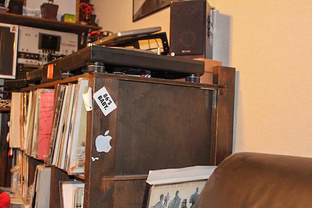 自作のレコード収納棚