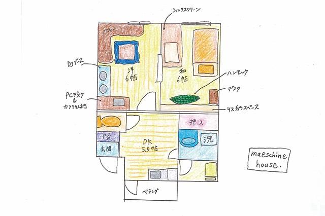 前田さんが住んでいる2DKの賃貸物件の間取図