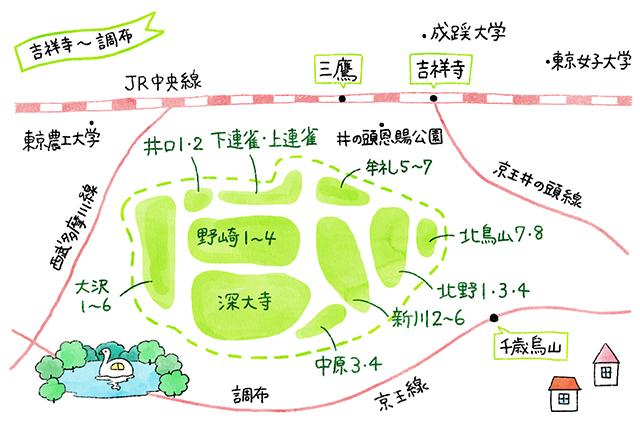 吉祥寺地図
