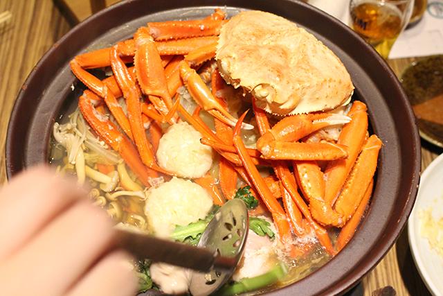 飯田橋にある、美味しいカニ鍋。