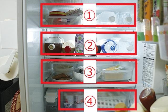 冷蔵室の収納