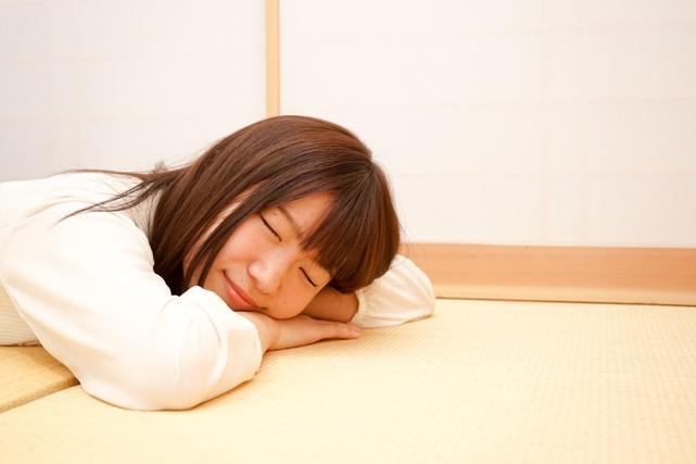 適度にふかふか。快適に過ごせる畳の部屋
