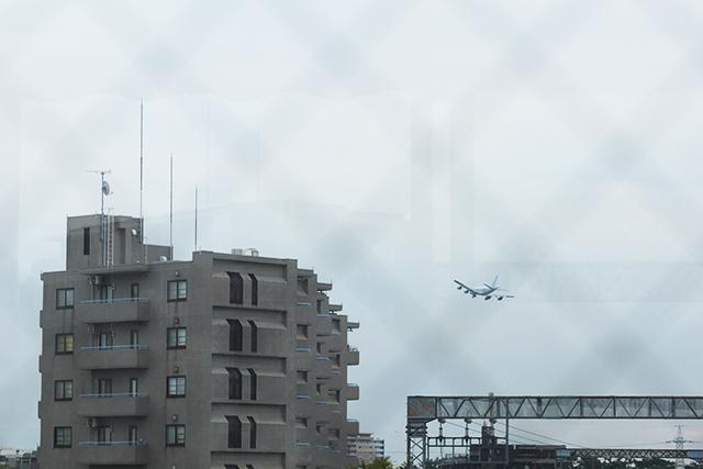 中央林間から見える飛行機
