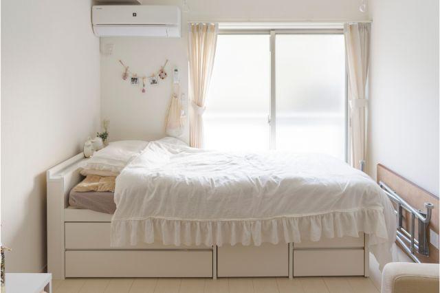 インスタグラマーのんさんが使っている収納付ベッド
