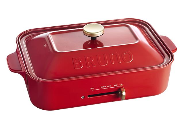 BRUNO コンパクトホットプレート(レッド)イデアインターナショナル