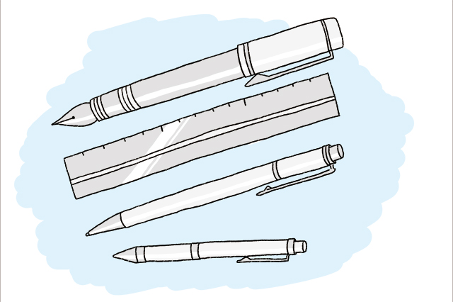 メタル系の文房具