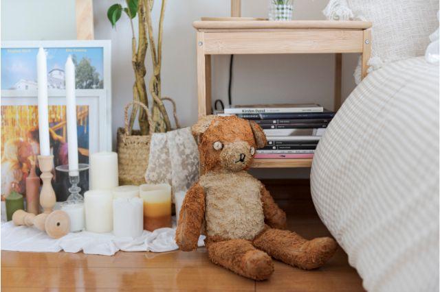 【一人暮らし × インテリア】インスタグラマーmariaさんのお部屋:年季の入ったクマちゃんはヴィンテージショップで出逢った宝物