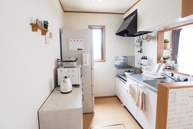 【二人暮らしの家事分担】二人暮らし中のむくりさん夫妻宅のキッチン