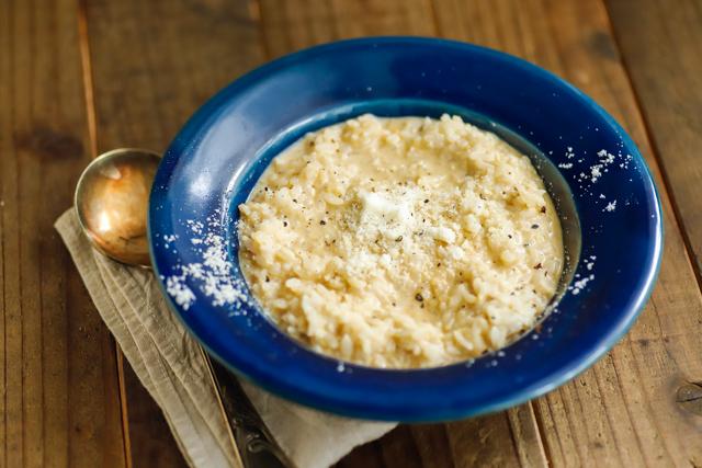 味噌とチーズのレンチンリゾット