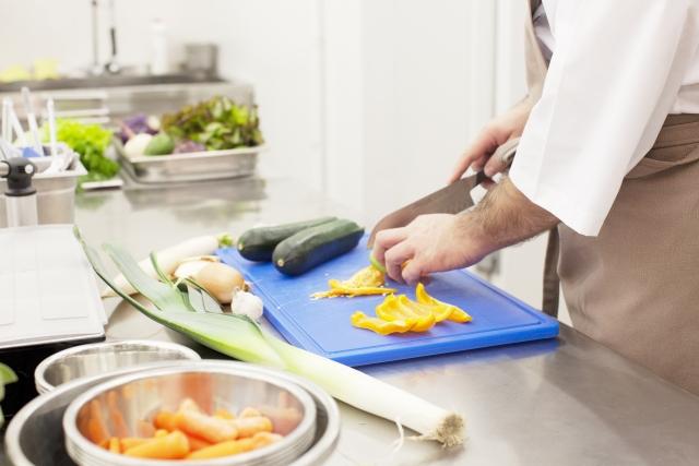 調理中の写真