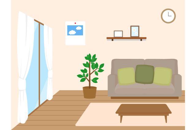 一人暮らしの部屋のイラスト