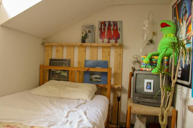 一人暮らし中の田中さん宅のロフト。ロフトがベッドスペースになっている
