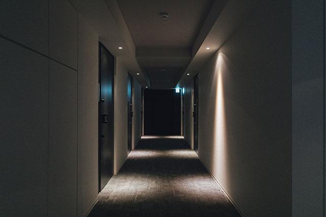 モテ賃貸物件探訪で今回紹介するハイグレードマンション「プライムメゾン板橋」の内廊下