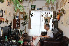 【1人暮らし訪問】植物がたくさん熱帯雨林ジャングルのようなスタイリッシュな部屋