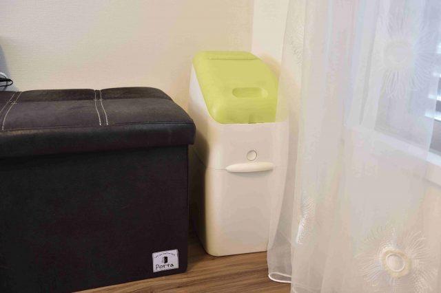 ペット可賃貸物件で一人暮らし中のFさん宅にある消臭ゴミ箱