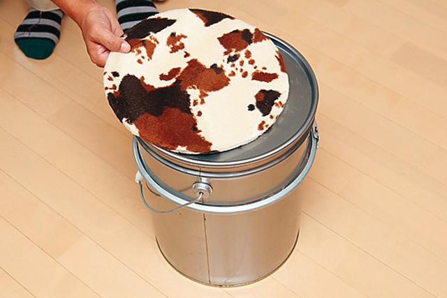 ペール缶スツールのDIY工程