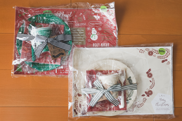 【3COINS(スリーコインズ)スタッフおすすめ】クリスマスパーティーに使えるアイテム ペアパーティSET 各500円(税別)|3COINS(スリーコインズ 3コインズ)