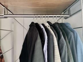 【簡単収納】一人暮らしのクローゼットはマワハンガーですっきり収納!
