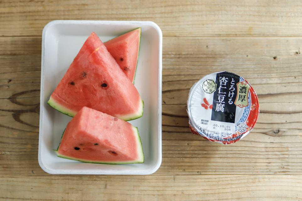 凍らせて揉むだけで絶品アイスに!簡単「スイカソルベ」の作り方&アレンジレシピ3選 シャーベット 作り方 スイカ×杏仁豆腐ソルベ