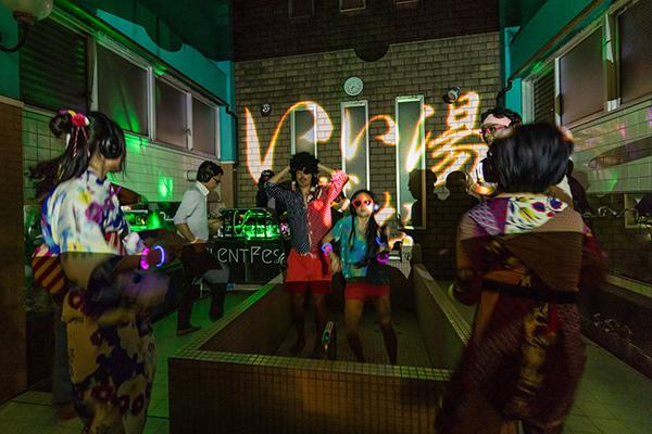 2019年1月26日(土)に東京・渋谷の銭湯「改良湯」で銭湯イベント「ダンス亜風呂屋(あふろや)」が開催
