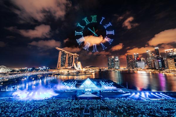 シンガポールThe Float @ Marina Bayで開催された「STAR ISLAND SINGAPORE COUNTDOWN EDITION 2019-2020」の様子⑲