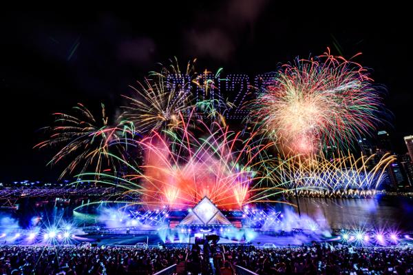 シンガポールThe Float @ Marina Bayで開催された「STAR ISLAND SINGAPORE COUNTDOWN EDITION 2019-2020」の様子⑳